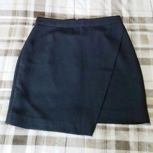 Banana Republic Wrap Overlap Mini Skirt Black, 2